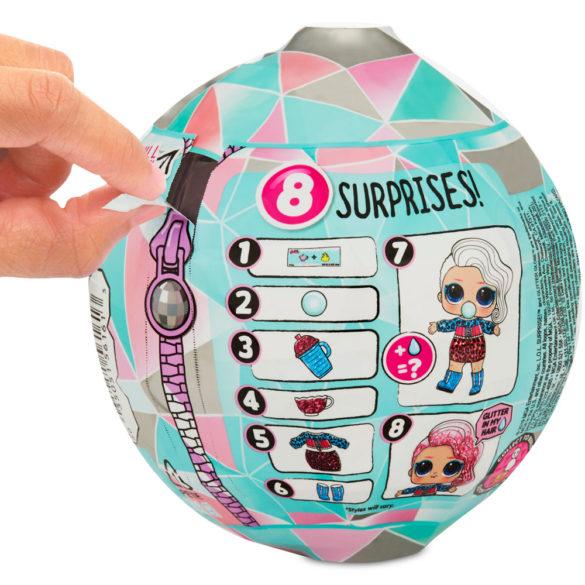 L.O.L. Surprise Papusa Surpriza Glitter Globe Seria Winter Disco 7