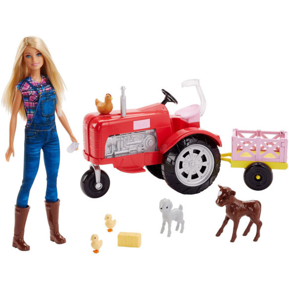 Papusa Barbie Tractorul de la Ferma si 5 Animalute 5