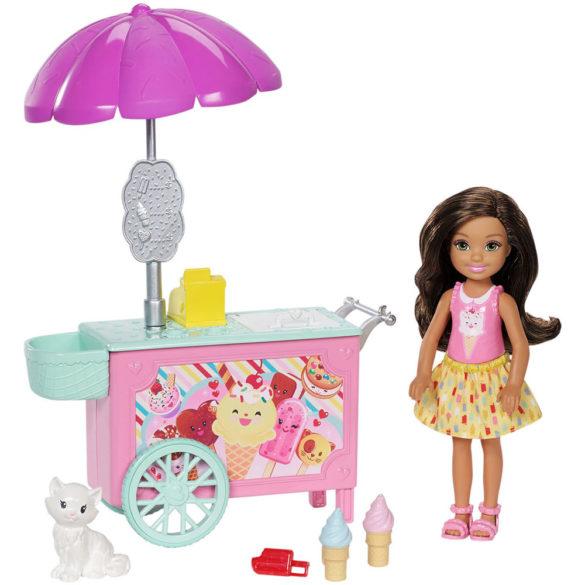 Set de Joaca Barbie Papusa Chelsea si Caruciorul de Inghetata 2