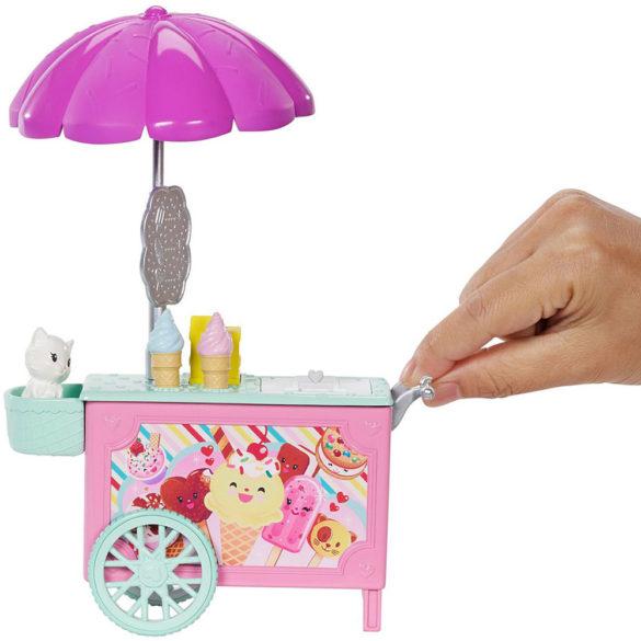 Set de Joaca Barbie Papusa Chelsea si Caruciorul de Inghetata 3