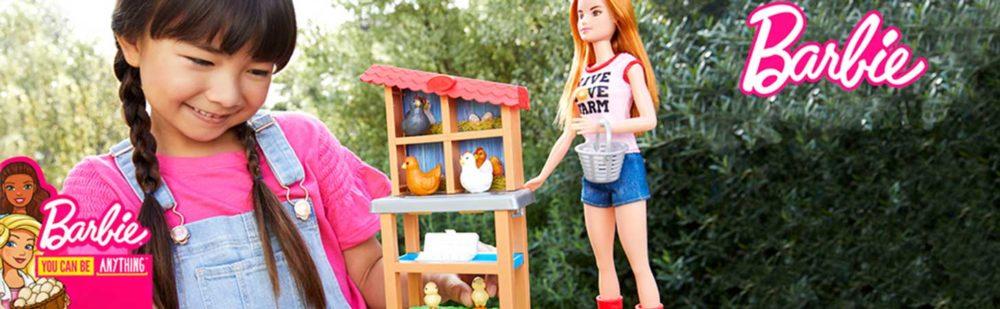 Papusa Barbie si Setul de Joaca Fermier