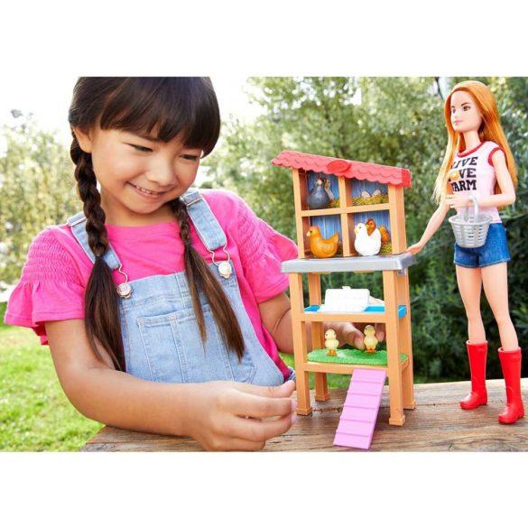 Papusa Barbie si Setul de Joaca Fermier 2
