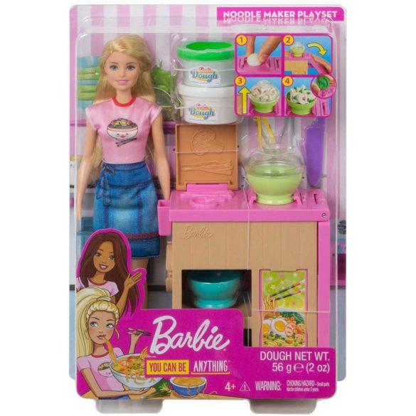 Barbie set de joaca cu papusa Ne jucam si facem paste 6