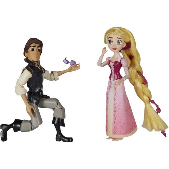 Diney Tangled Papusa Rapunzel si Eugene scena cererii in casatorie 3