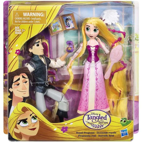 Diney Tangled Papusa Rapunzel si Eugene scena cererii in casatorie 7