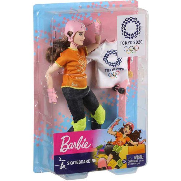 Tokyo 2020 Papusa Barbie Campioana la Skateboard 4