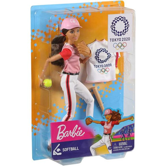 Tokyo 2020 Papusa Barbie Campioana la Softball 4