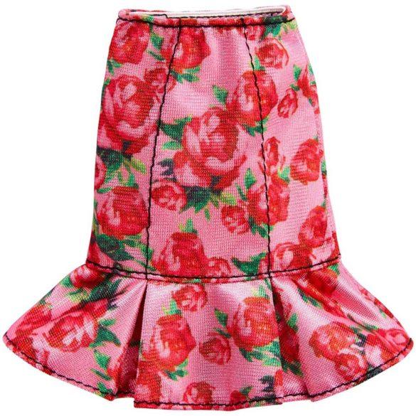 Hainute pentru papusa Barbie - Fustita cu Trandafiri