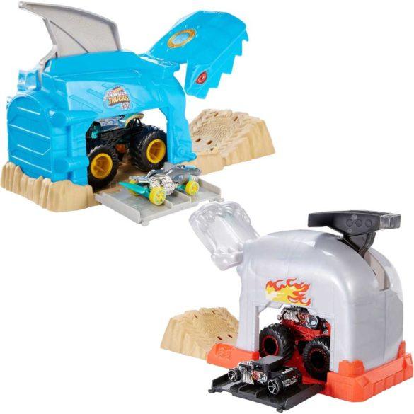 Hot Wheels Monster Trucks Set Garaj si Lansator