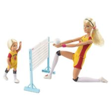 Papusa Barbie Made to Move Antrenor de Volei