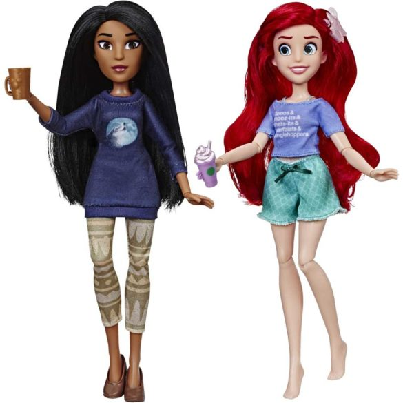 Printesele Disney Set de 2 Papusi Ariel si Pocahontas