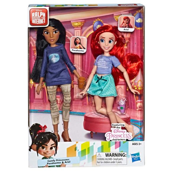 Printesele Disney Set de 2 Papusi Ariel si Pocahontas 2