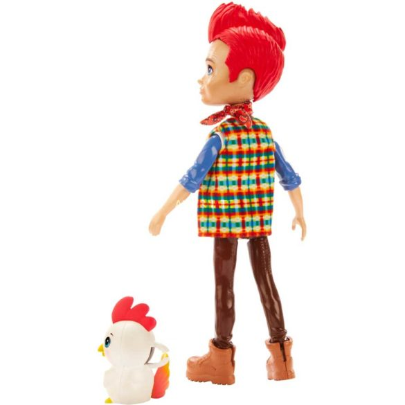 Enchantimals Papusa Redward Rooster Figurina Cluck 2
