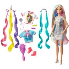 Papusa Barbie cu Accesorii si Par Fantastic