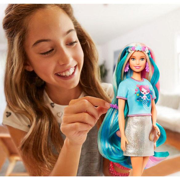 Papusa Barbie cu Accesorii si Par Fantastic 2