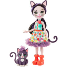 Enchantimals Papusa Ciesta Cat & Figurina Climber