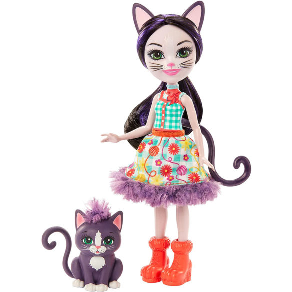 Enchantimals Papusa Ciesta Cat & Figurina Climber