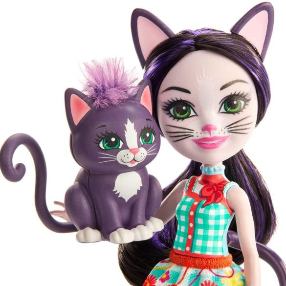 Enchantimals Papusa Ciesta Cat Figurina Climber 3