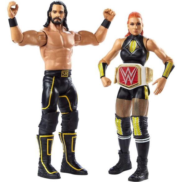 Pachet Figurine WWE Seth Rollins & Becky Lynch