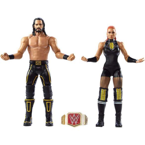 Pachet Figurine WWE Seth Rollins Becky Lynch 3