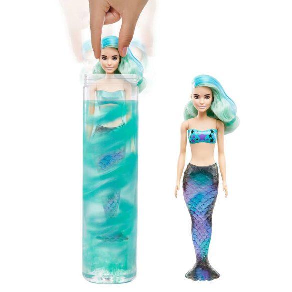 Papusa Barbie Color Reveal Sirena cu 7 Accesorii 2