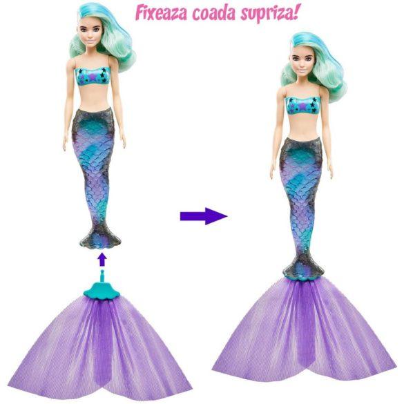 Papusa Barbie Color Reveal Sirena cu 7 Accesorii 3