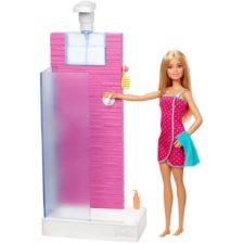 Papusa Barbie si Setul de Dus