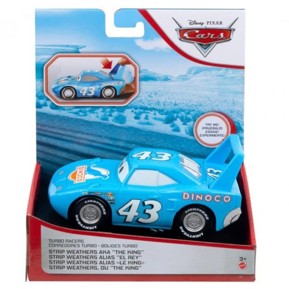 Masinuta Disney Cars Turbostart Dinoco 14 cm 4