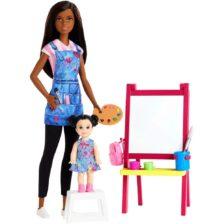 Papusa Barbie Profesoara de Arta, Bruneta