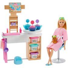 Set de Joaca Barbie o zi la spa cu Masca pentru Fata