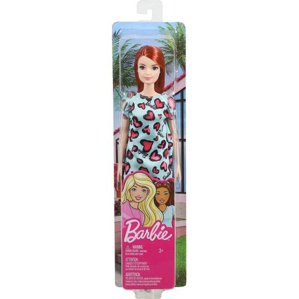 Papusa Barbie Clasic Roscata in rochie cu inimioare 6