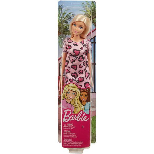 Papusa Barbie Clasic in rochie roz cu inimioare 6
