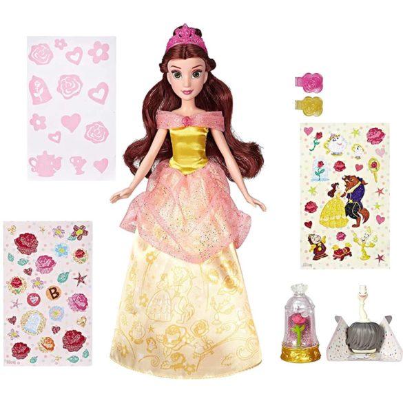 Printesele Disney Papusa Belle cu Rochie pentru Decorat