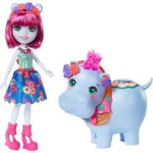 Enchantimals Papusa Hedda Hippo si Figurina Lake