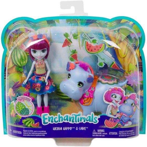 Enchantimals Papusa Hedda Hippo si Figurina Lake 7
