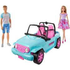 Set de Joaca Barbie si Ken in Masina de Teren