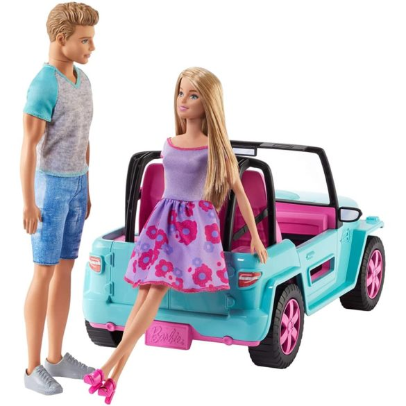Set de Joaca Barbie si Ken in Masina de Teren 2