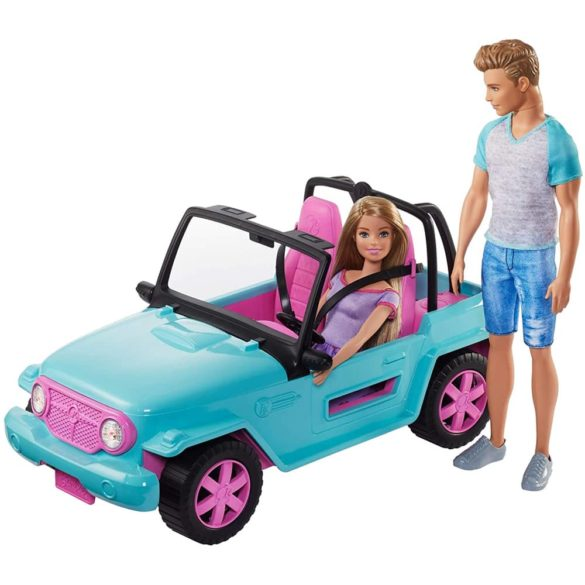 Set de Joaca Barbie si Ken in Masina de Teren 3