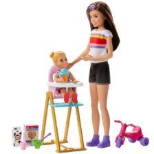 Barbie Skipper Babysitters Papusa si Set de Joaca la Masa