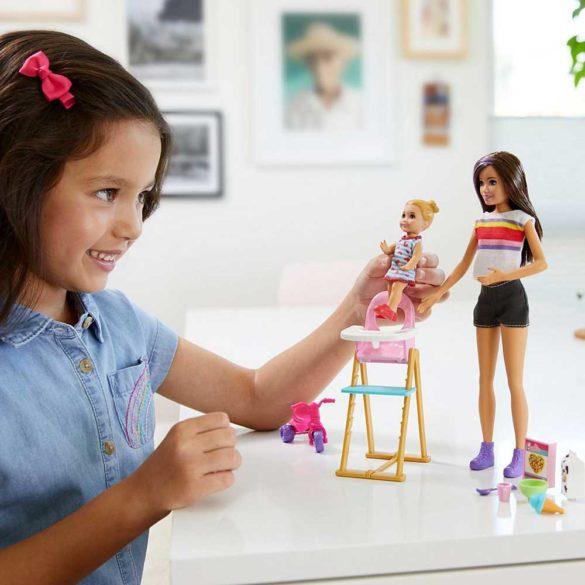 Barbie Skipper Babysitters Papusa si Set de Joaca la Masa 2