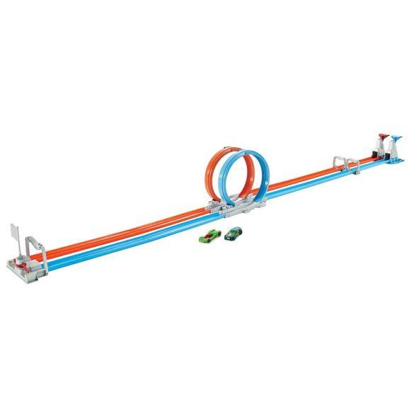Pista Hot Wheels Double Loop Dash cu 2 Masinute