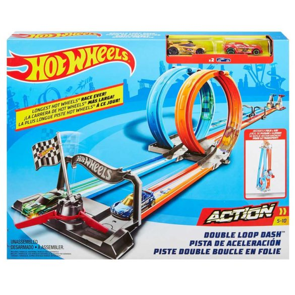 Pista Hot Wheels Double Loop Dash cu 2 Masinute 7