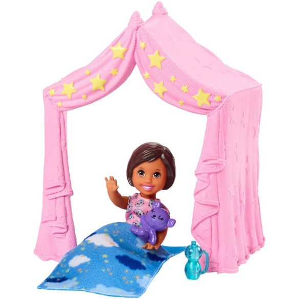 Barbie Babysitters Set de Joaca Petrecere in Pijama