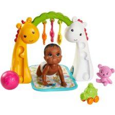 Barbie Babysitters Set de Joaca cu Bebelus si Salteluta