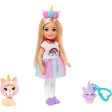 Barbie Club Chelsea Papusa cu Accesorii si Costum Unicorn