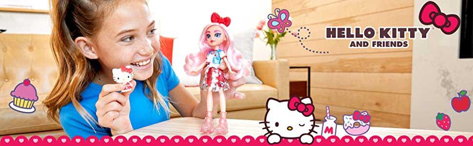 Colectia Hello Kitty Papusa Eclair si Figurina Hello Kitty