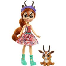 Enchantimals Papusa Gabriela Gazelle si Figurina Racer