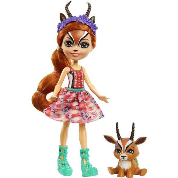 Enchantimals Papusa Gabriela Gazelle si Figurina Racer