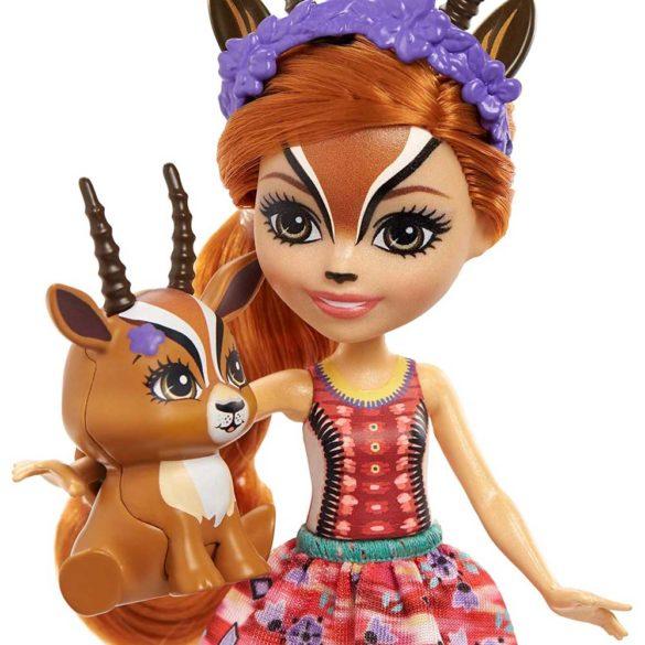 Enchantimals Papusa Gabriela Gazelle si Figurina Racer 3