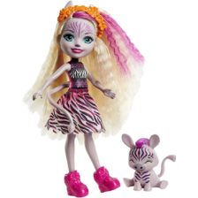 Enchantimals Papusa Zadie Zebra si Figurina Ref